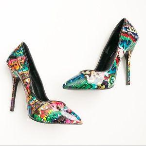 Keyshia Cole x Steve Madden Graffiti Heels 8.5